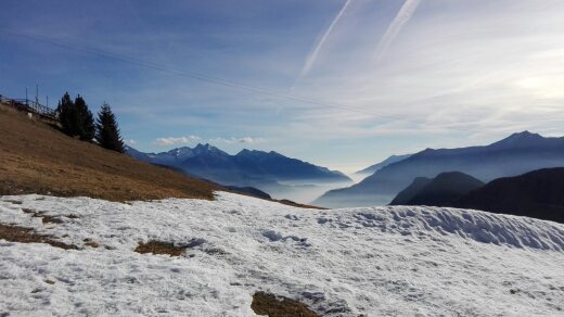 Val d'Aosta, veduta dalle Alpi