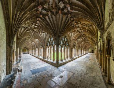Particolare del chiostro della Cattedrale di Canterbury