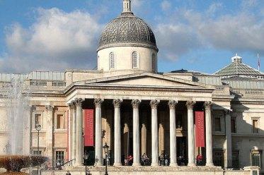 Entrata della National Gallery di Londra
